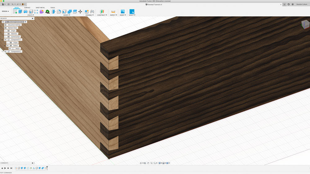 Design a Dovetail Joint in Fusion 360