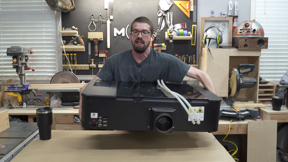 Move the Full Spectrum Laser Cutter to a work table
