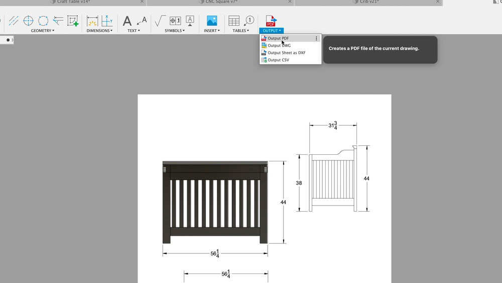Output to PDF in Fusion 360