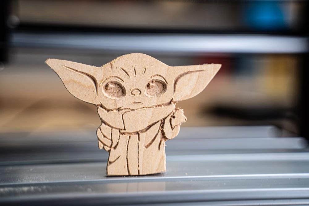 Wooden Baby Yoda