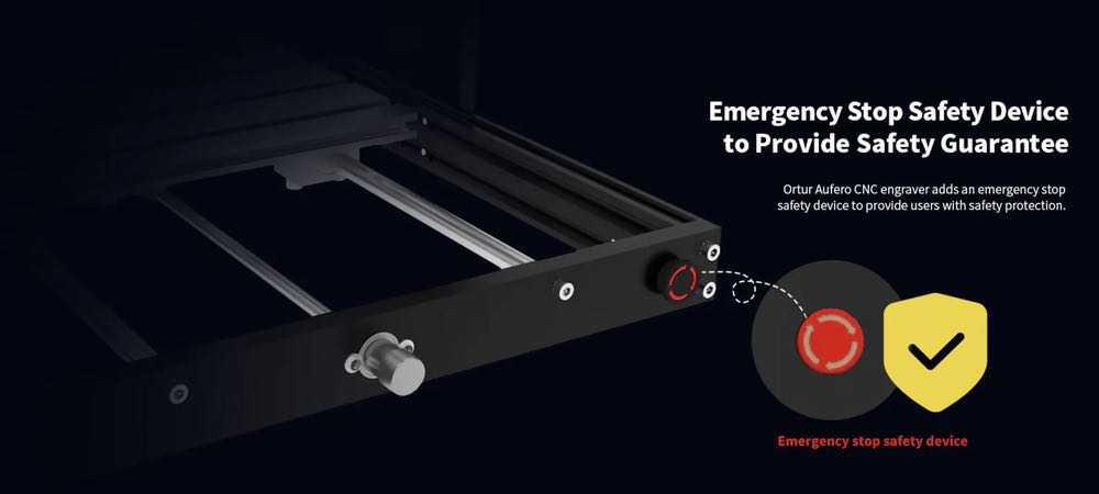Ortur Aufero CNC Engraver Emergency Stop