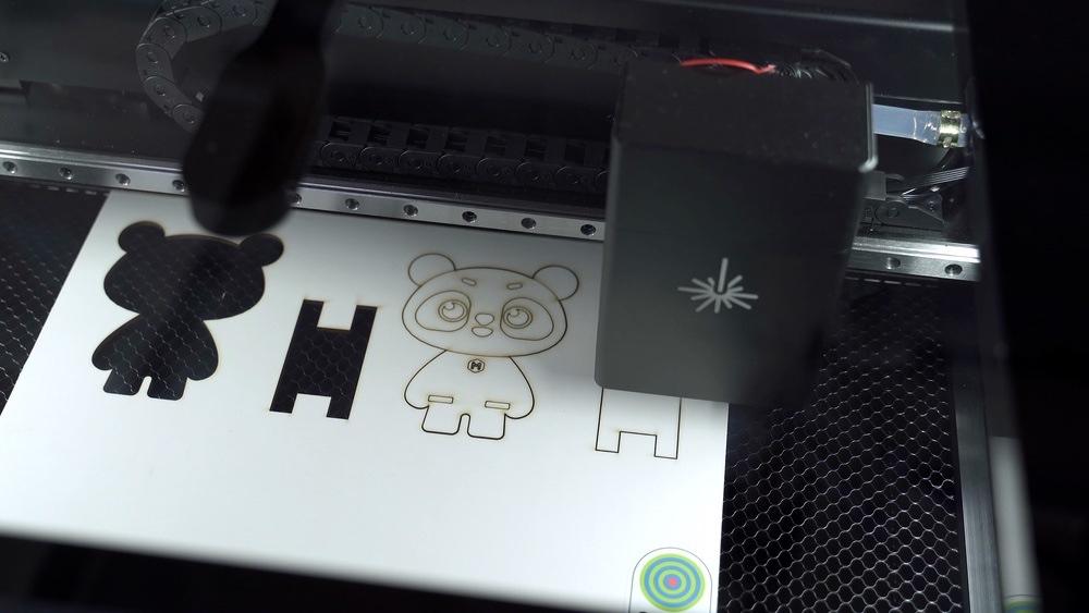 Makeblock Laserbox mascot cut
