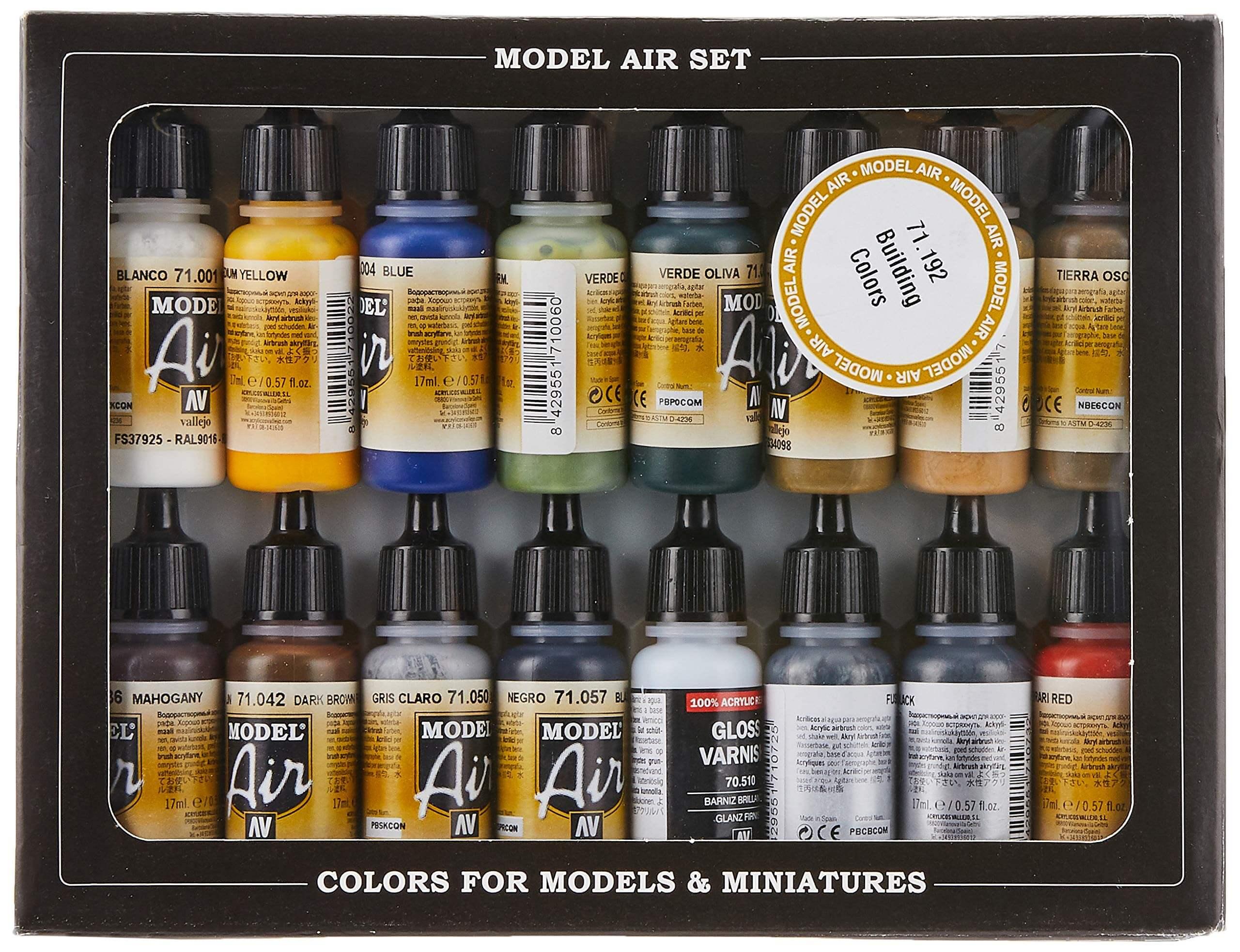 Vallejo Building Set Model Air Paint