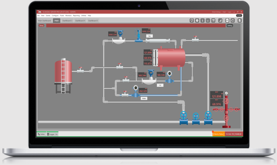 SCADA Process diagram data acquisition oil and gas welltest