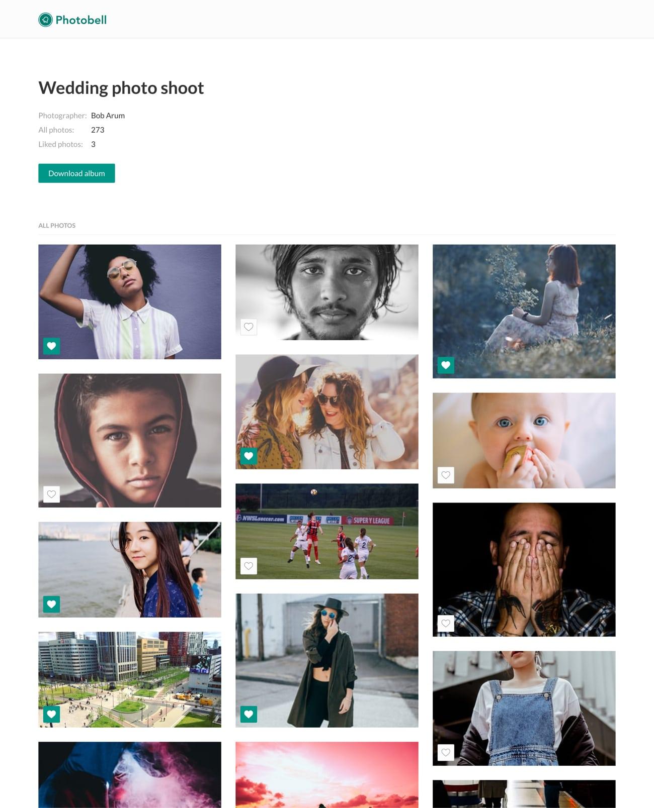 list of photos