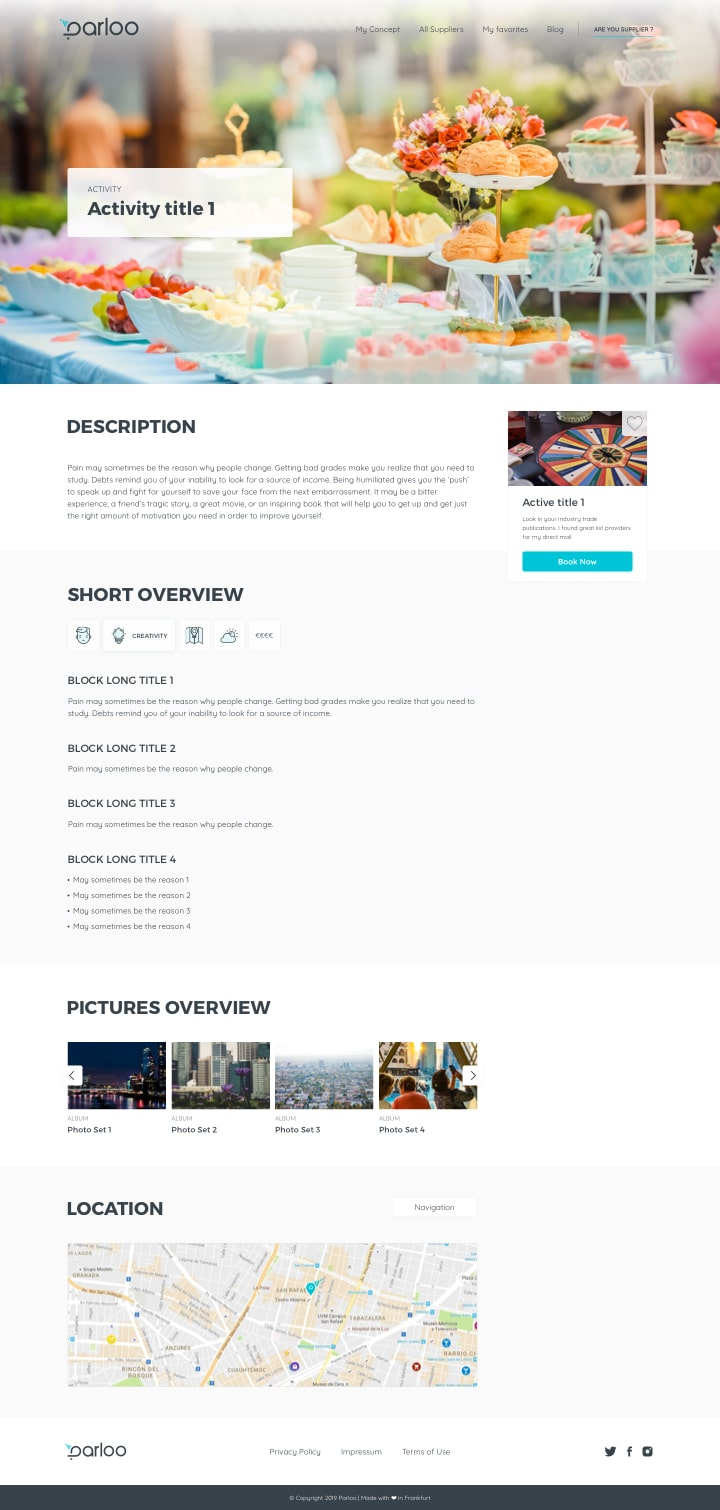 parloo page activity page