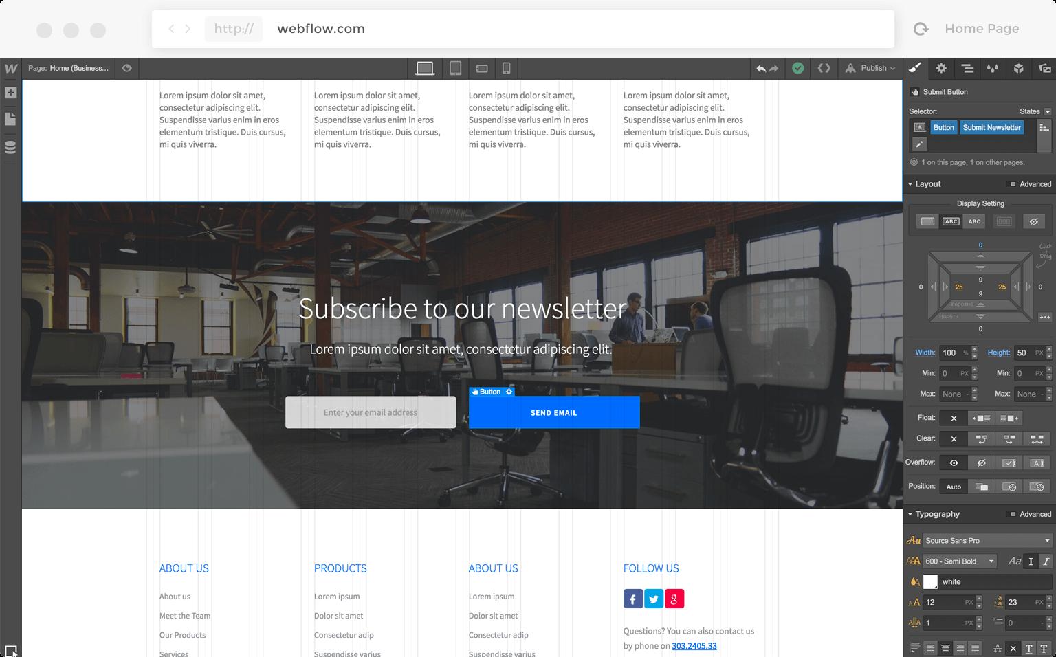 Exempel på att köpa hemsida med prenumeration som syfte