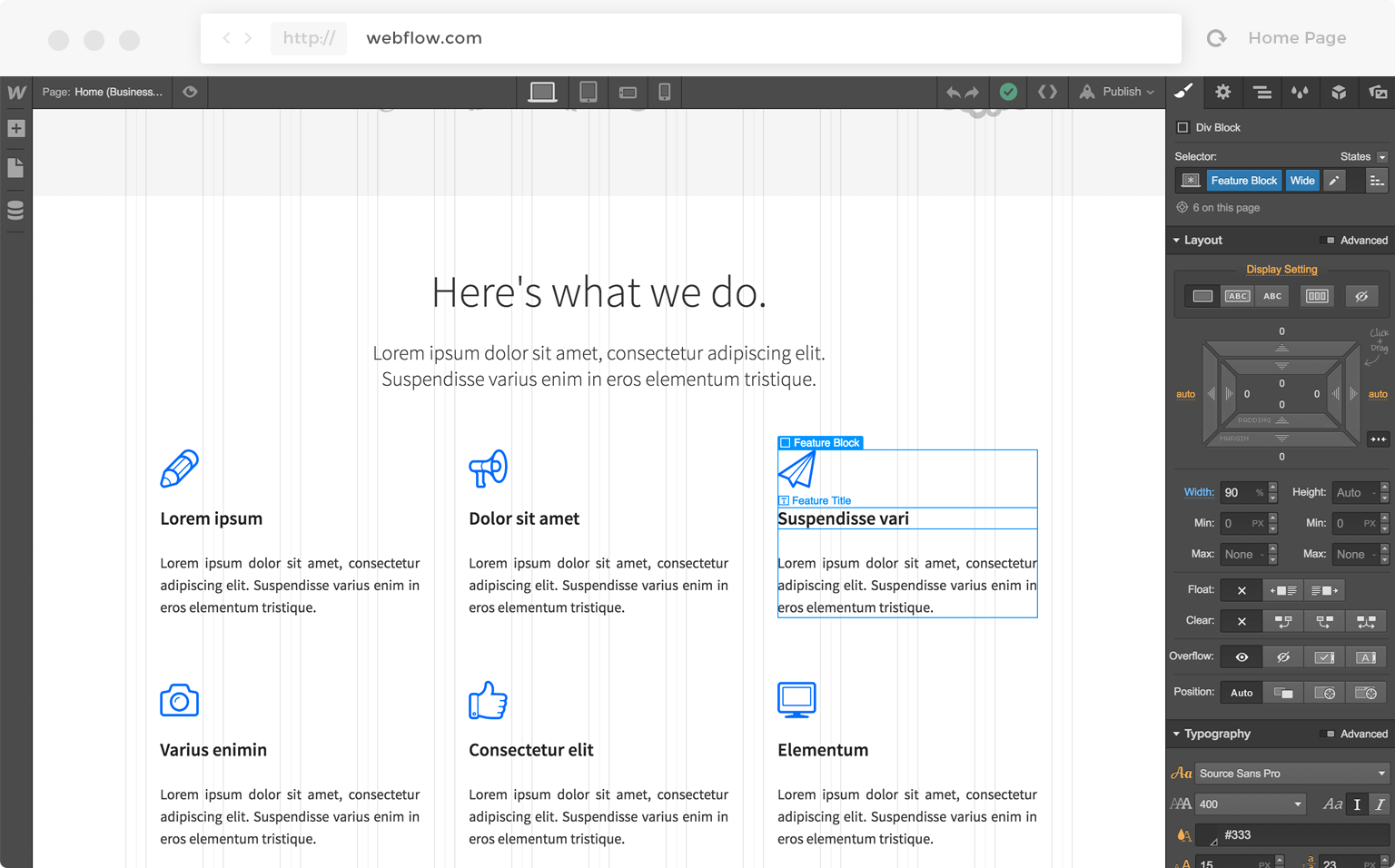 Köpa hemsida i säcken är inte bra. Exempel på Eskaleras design.