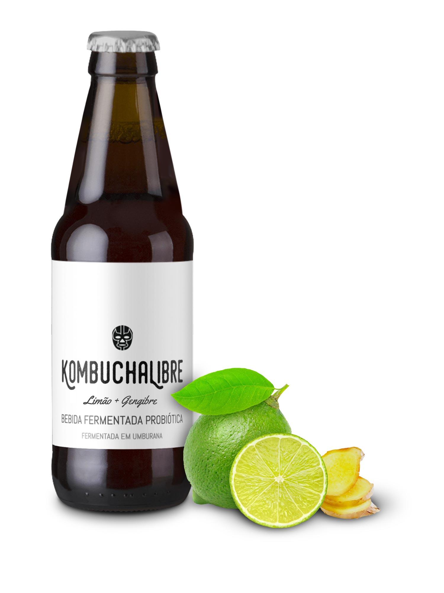 Kombucha Libre - Limão & Gengibre