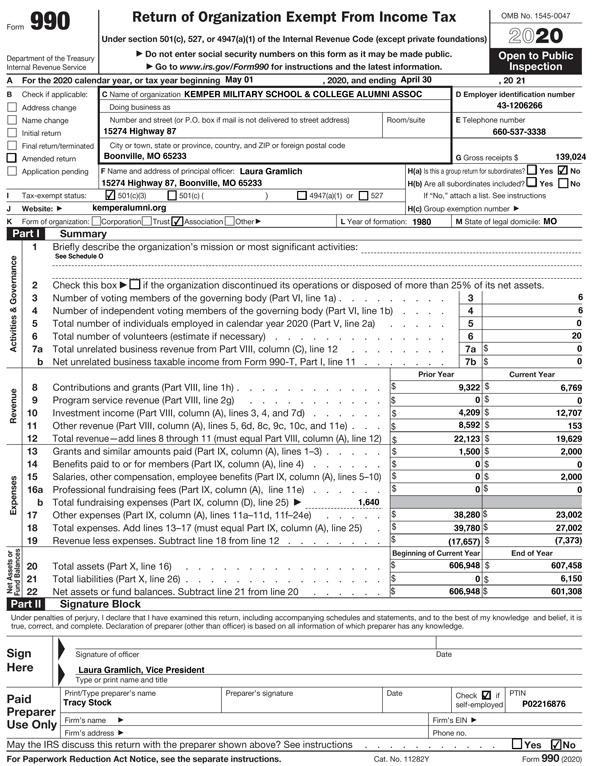 IRS 990 Thumbnail