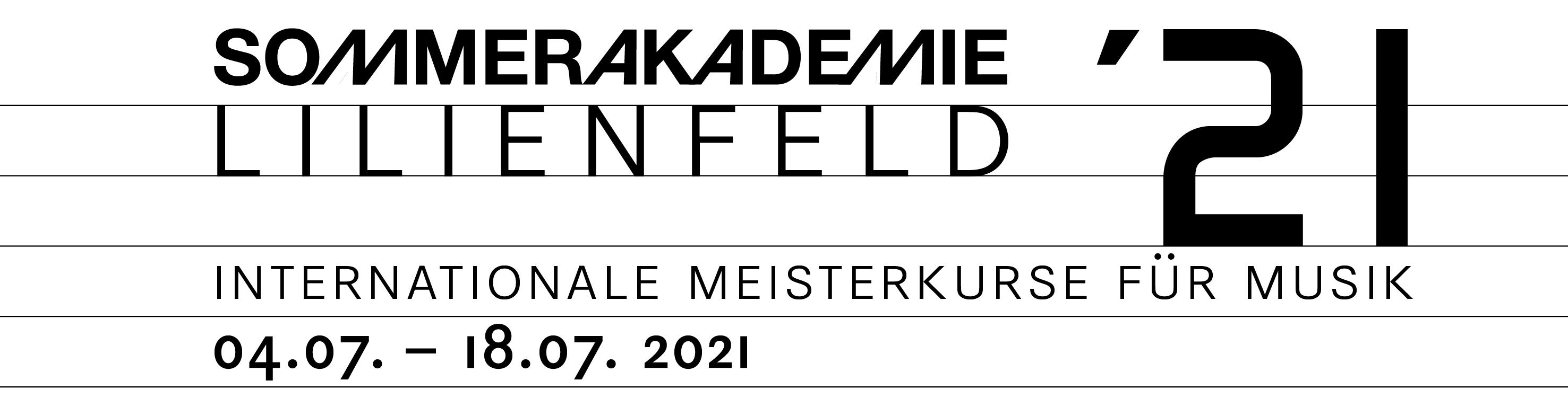 Logo Sommerakademie Lilienfeld 2020