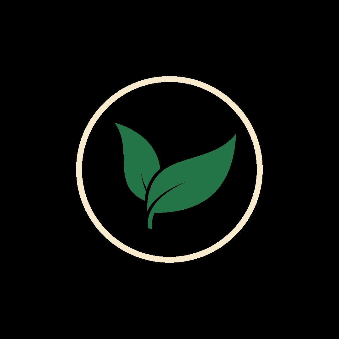 pure taste green leaf icon