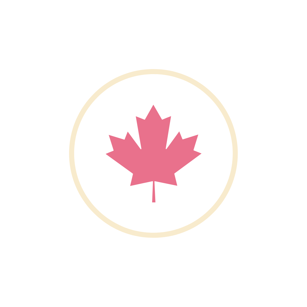 Canadian women owned and operated pink leaf icon