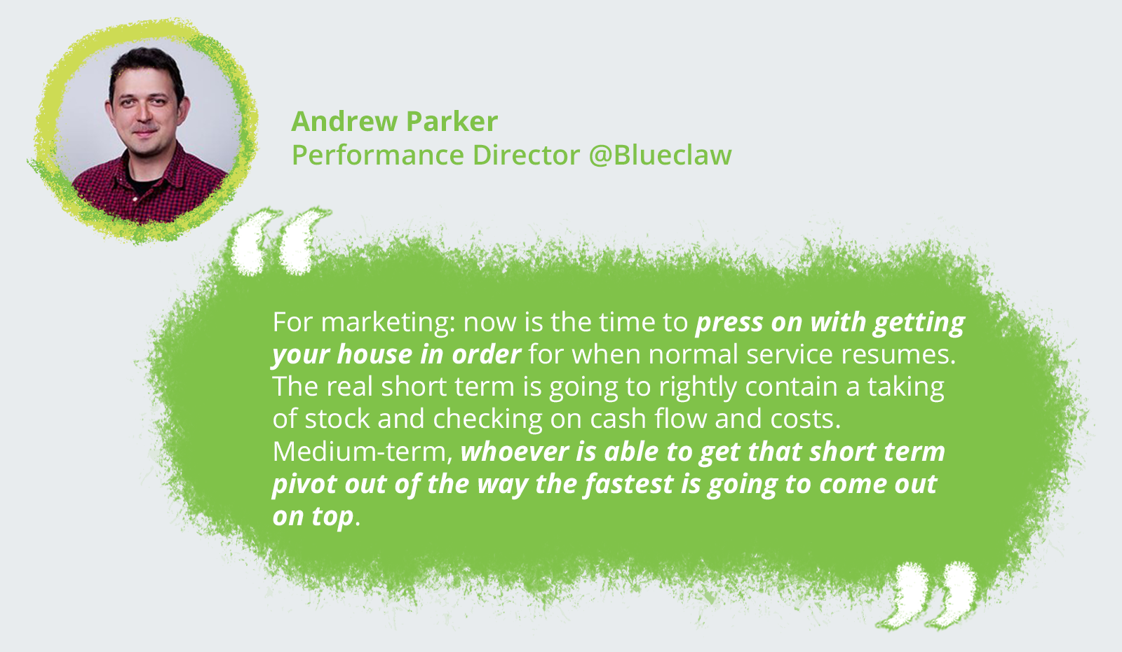 Andrew Parker, Performance Director @Blueclaw