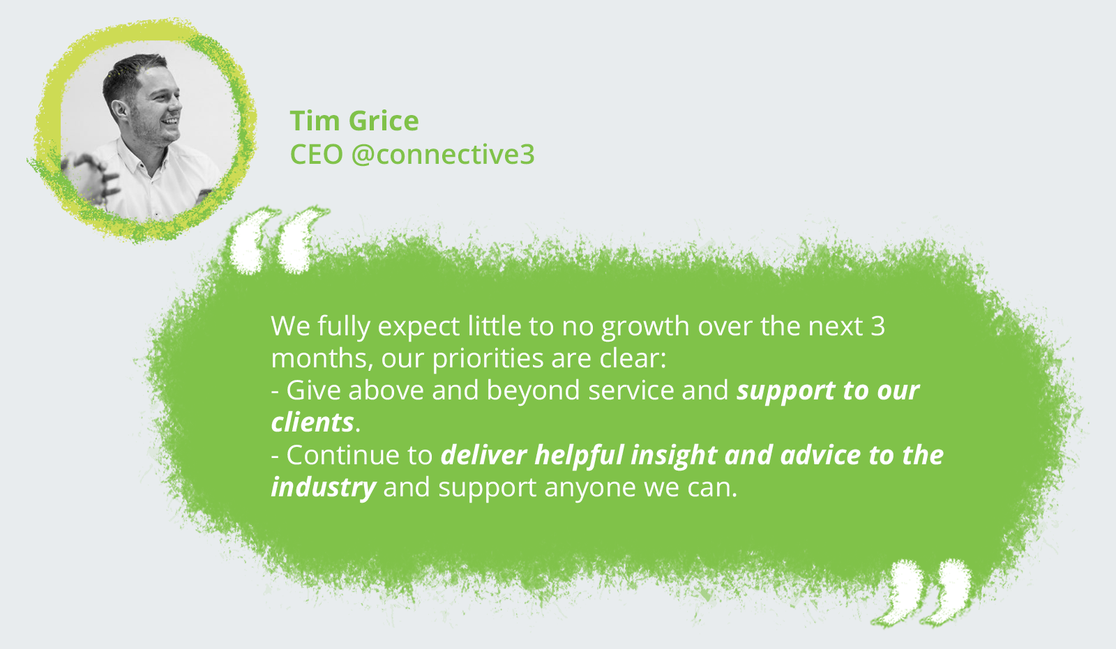 Tim Grice, CEO @connective3