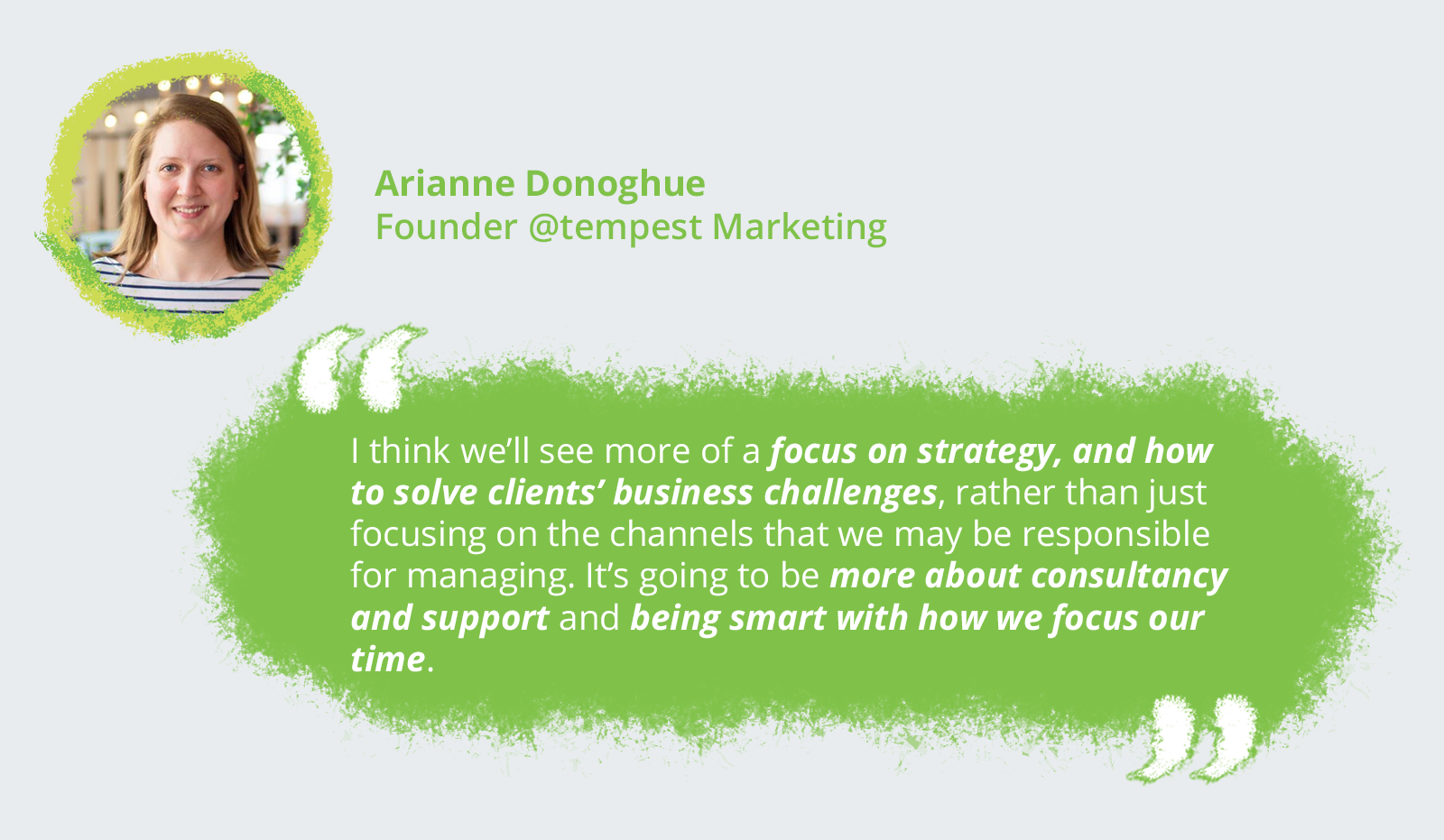 Arianne Donoghue, Founder @tempest Marketing