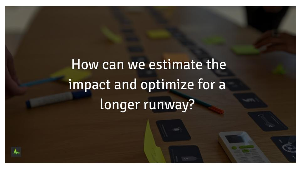 How can we estimate the impact and optimize for a longer runway for our SEO agency?