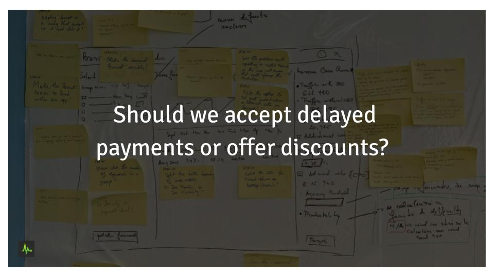Should we accept delayed payments or offer discounts?
