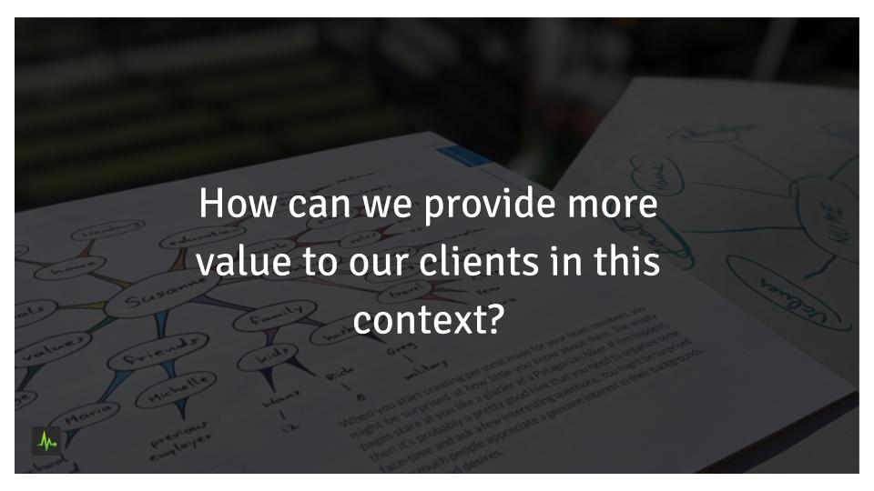 How can we provide more value to our customers in this context?