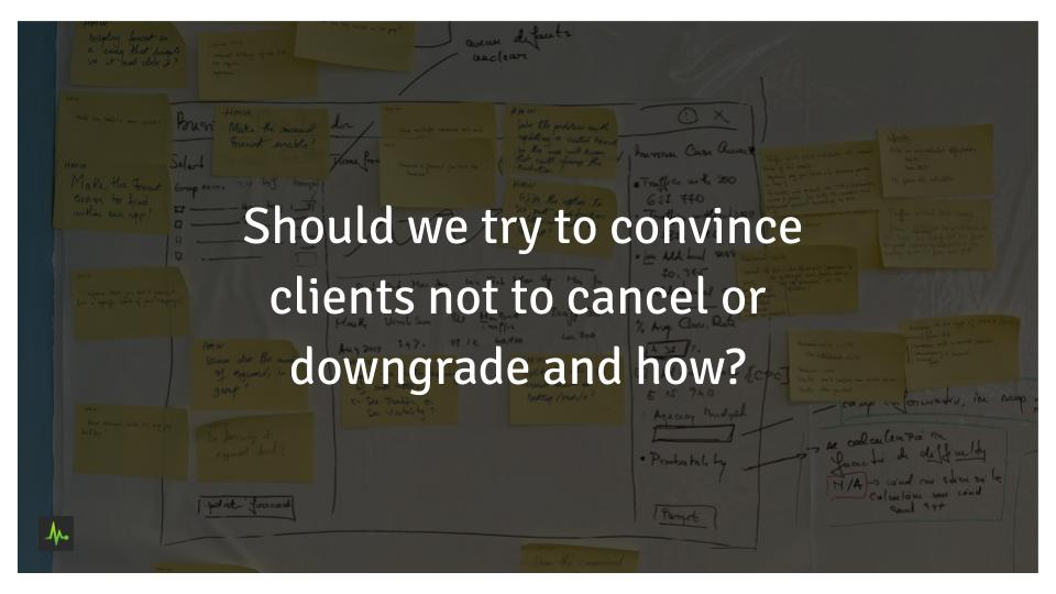 Should we try to convince clients not to cancel or downgrade and how?