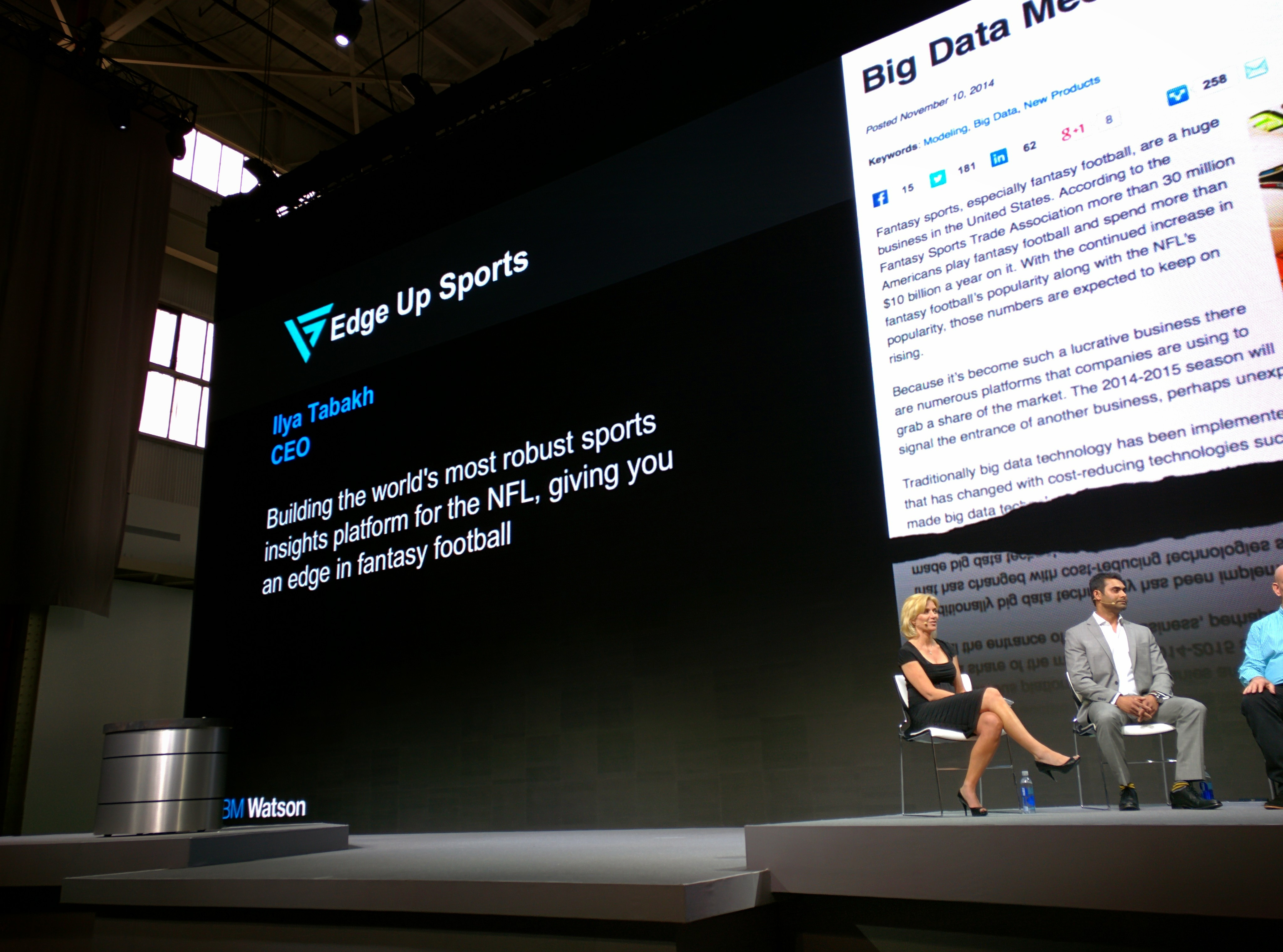 On stage at World of Watson 2015