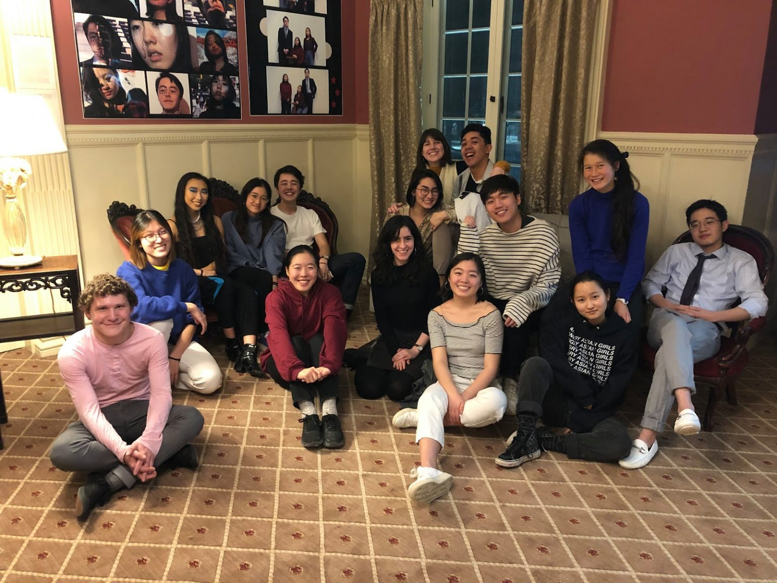 Vassar College students gather during a student showcase project for an Asian American Studies class.