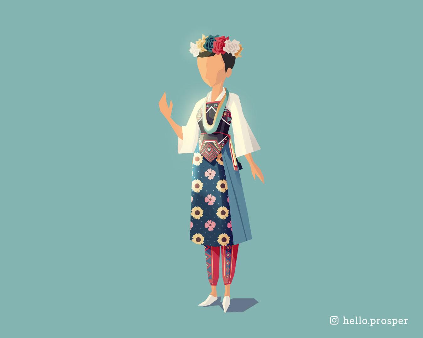Hello Prosper Taiwanese Aboriginal outfit Puyuma tribe