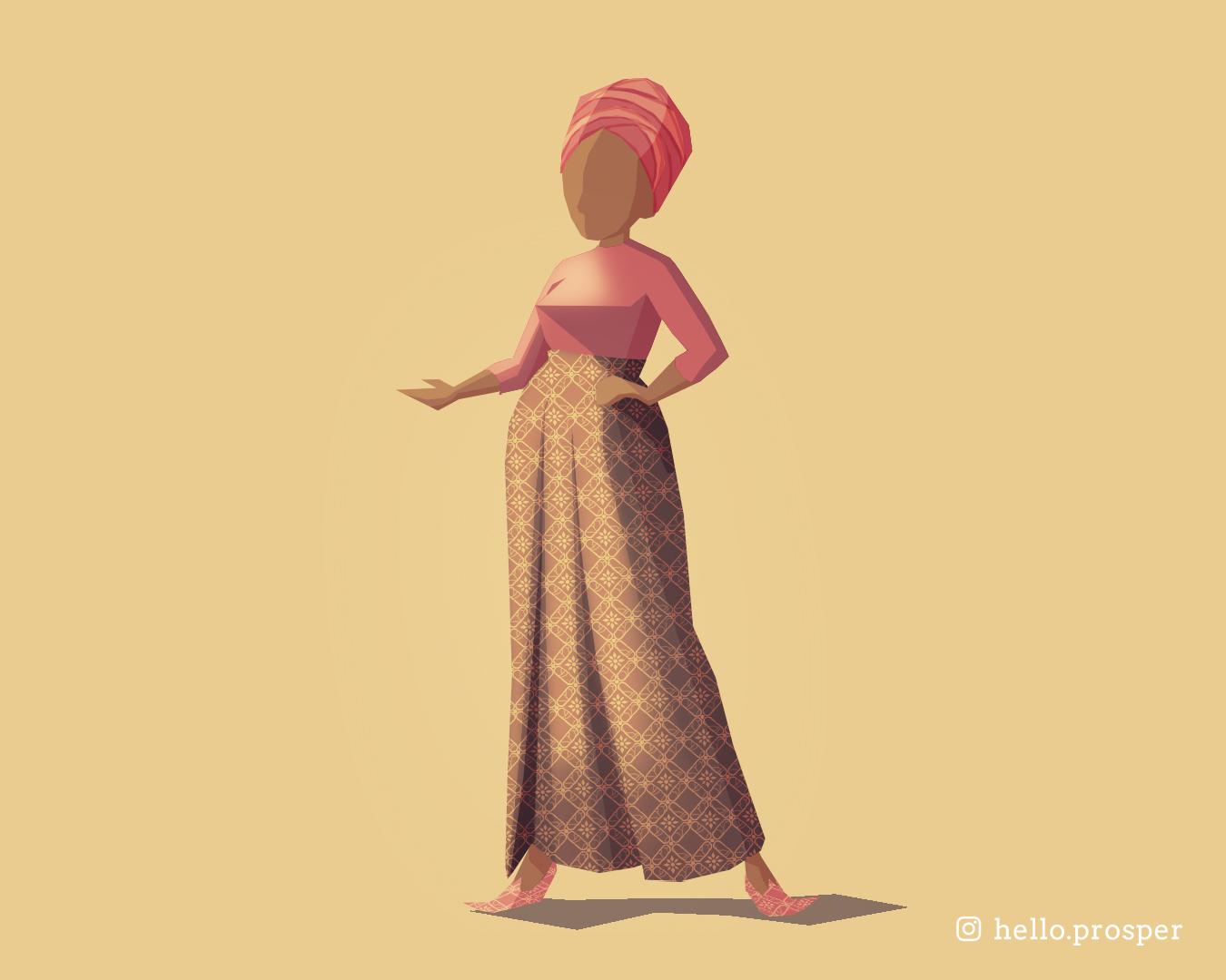 Hello Prosper modern Indonesian Batik pattern