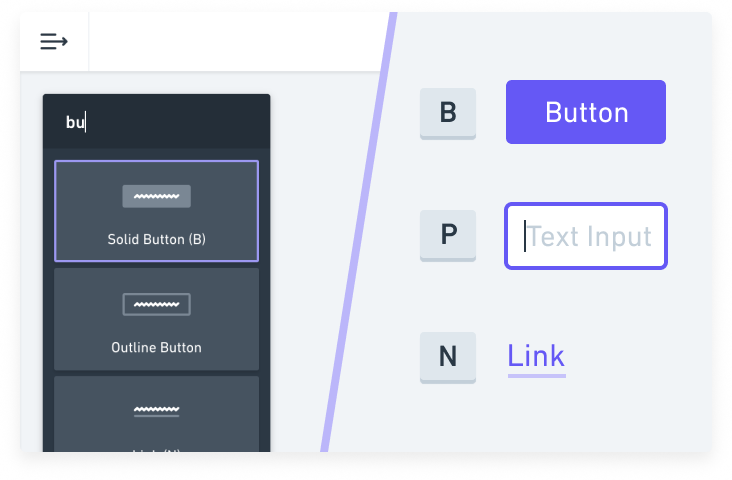 keyboard shortcuts make Whimsical wireframes extremely fast to use