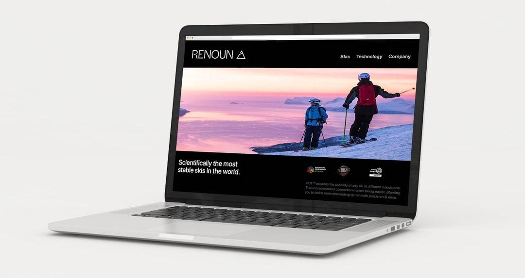 Renoun skis, website design.