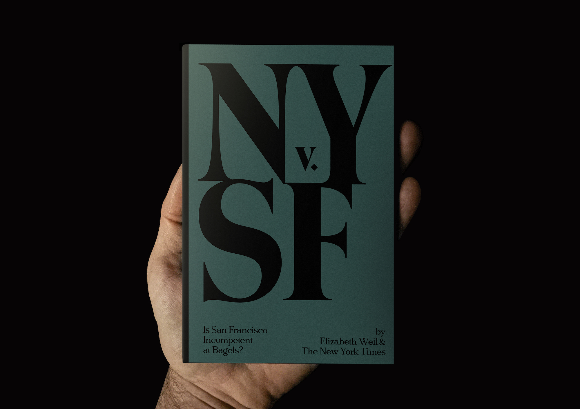 Magazine design: New York vs. San Fransisco bagels.