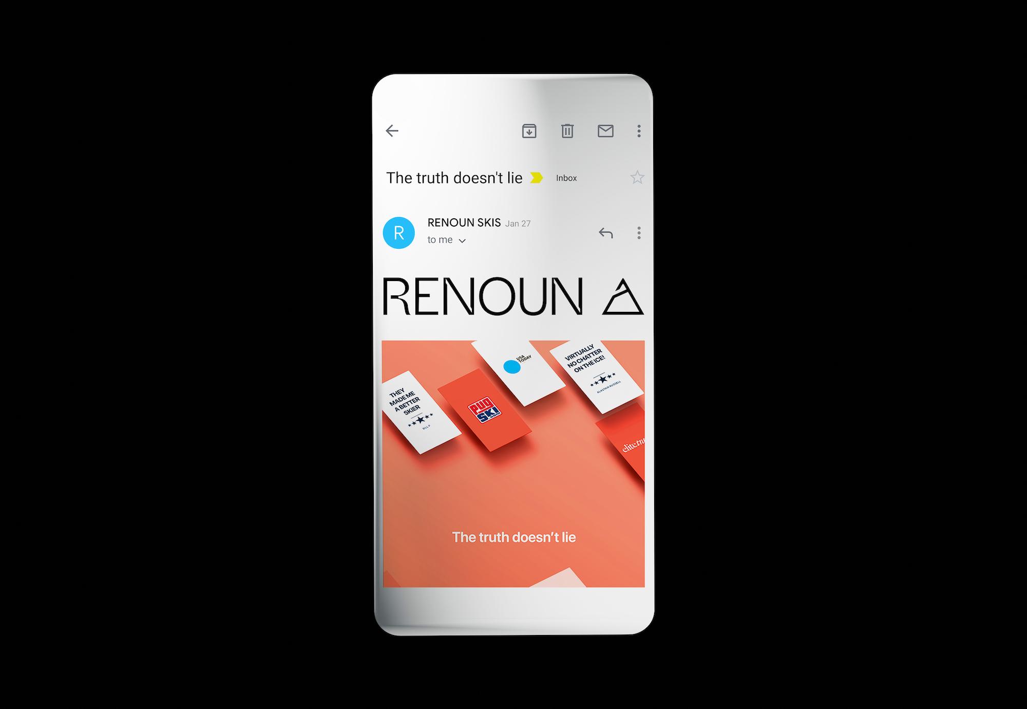 Renoun skis, email design.