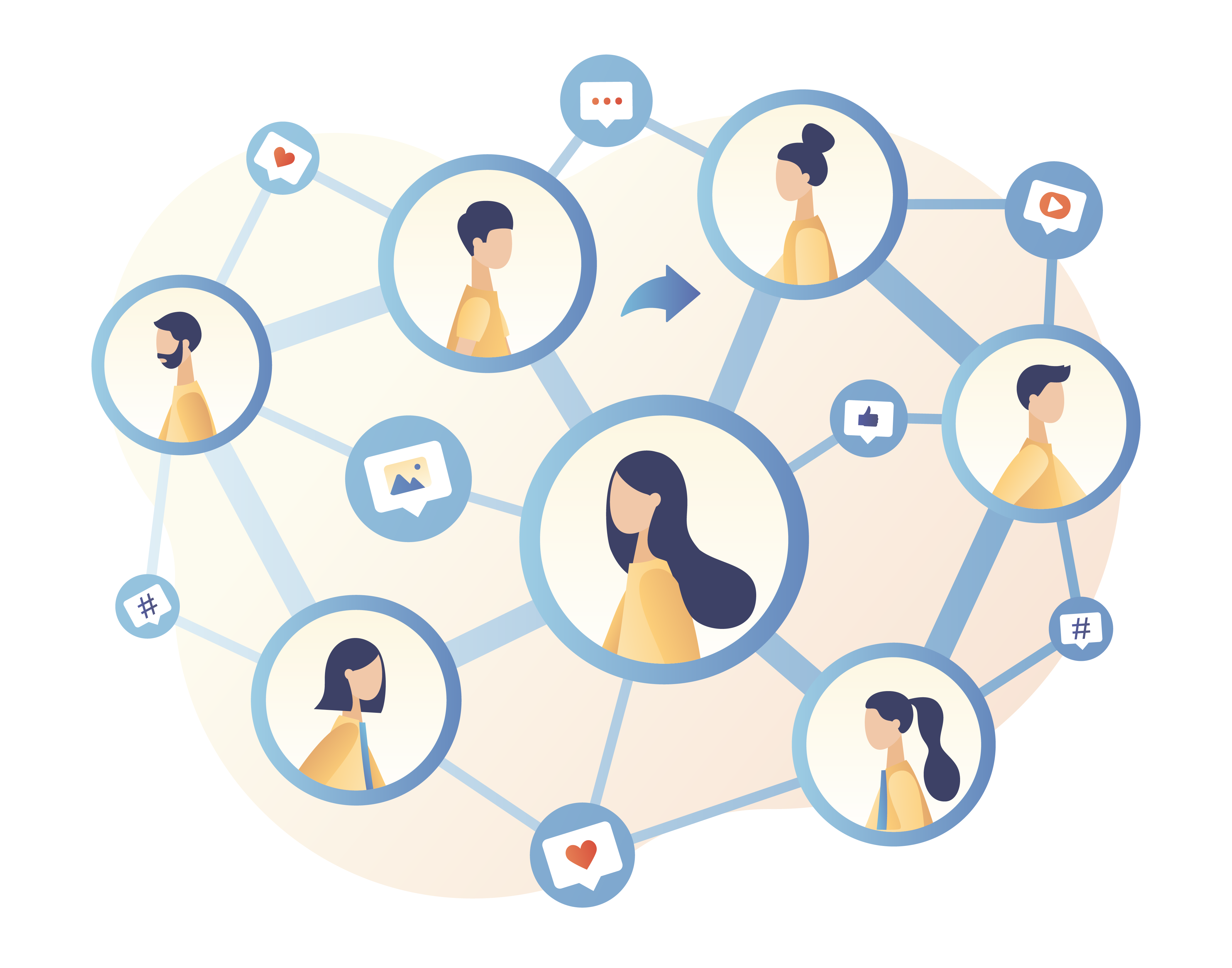 network of people connected together