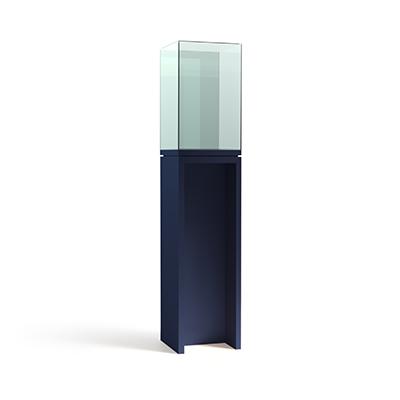 Вертикальная квадратная витрина-стол