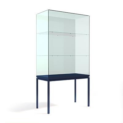 Вертикальная прямоугольная витрина на ножках