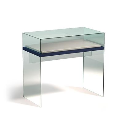 Горизонтальная прямоугольная витрина-стол