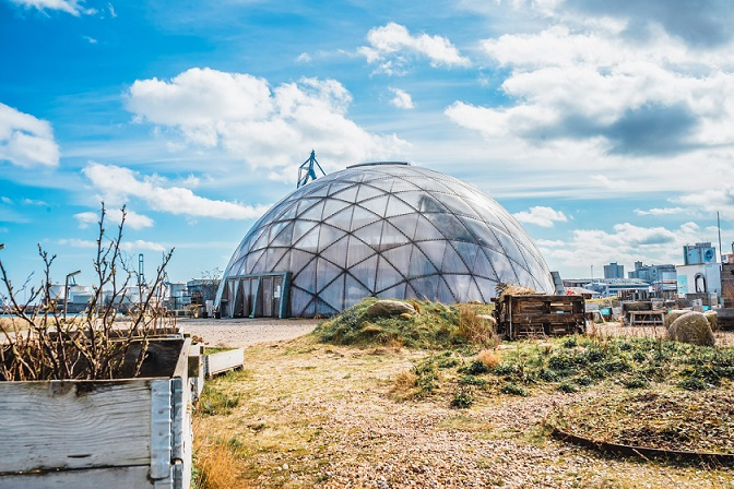 Dome-shaped building