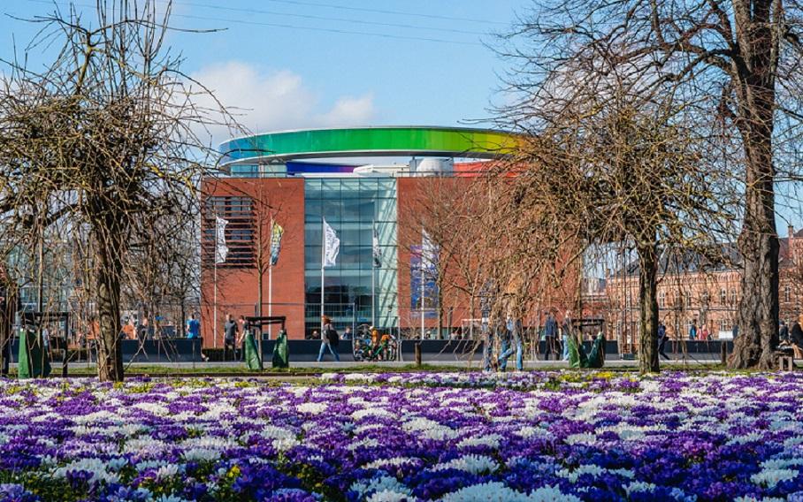 The building of Aros art museum in Aarhus