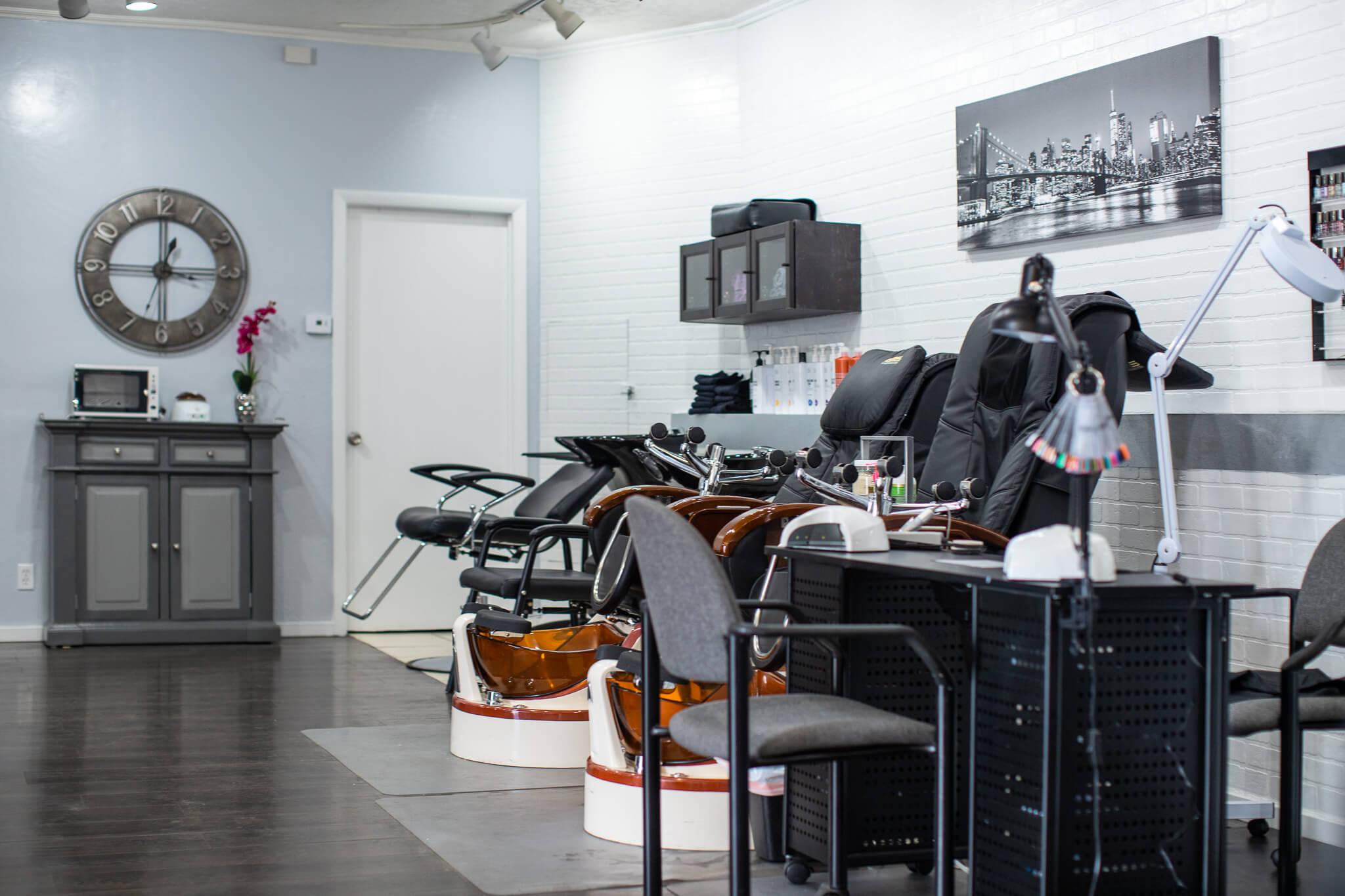 Salon and pedicure chairs
