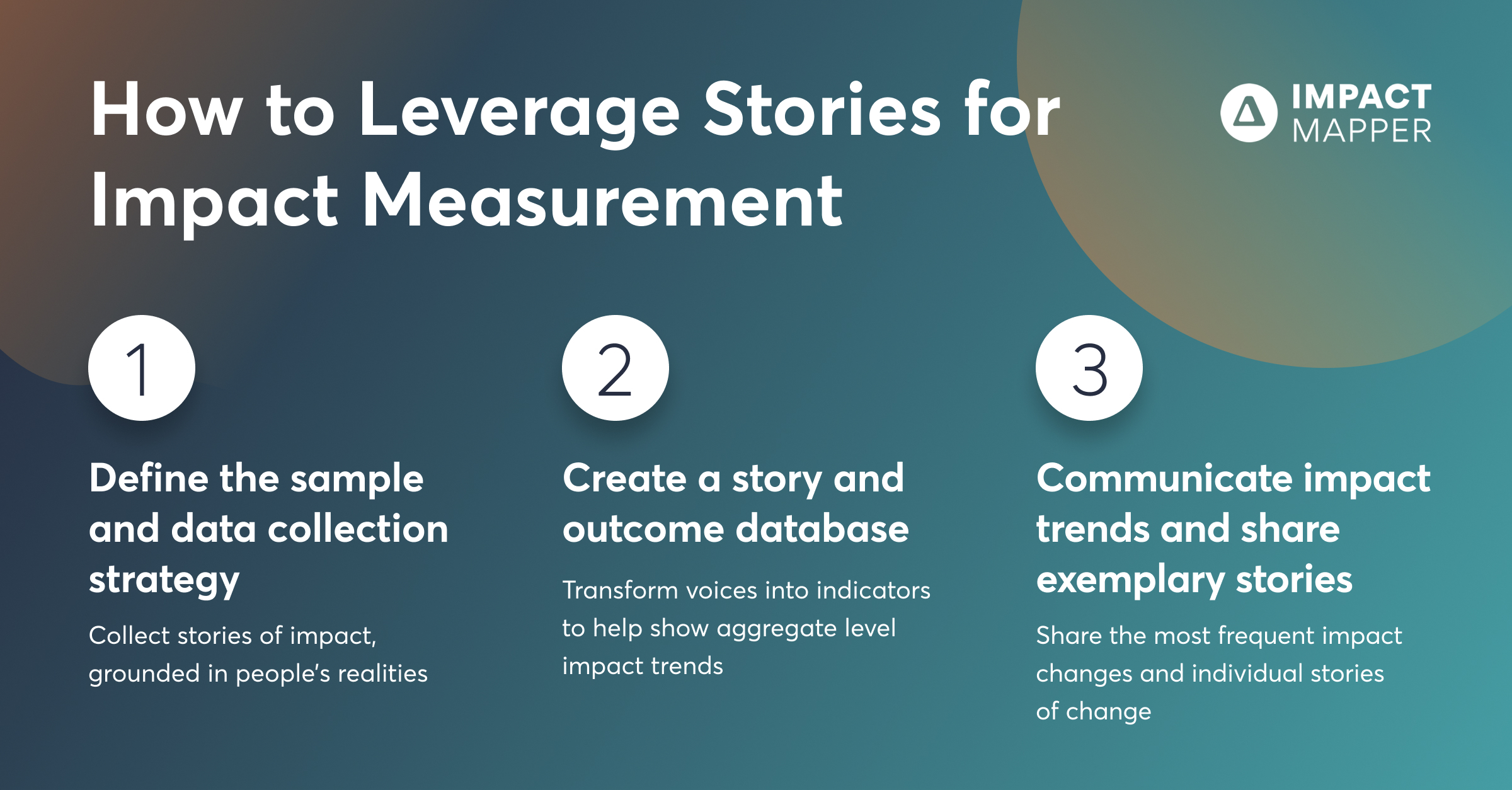 3 Practical tips to leverage stories for impact measurement