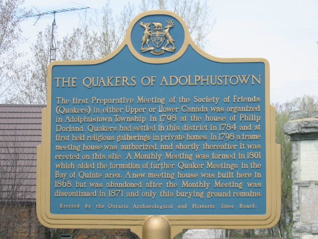 Quakers of Adolphustown