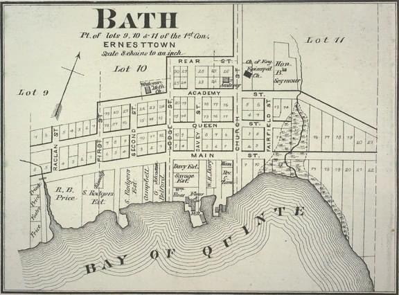 Layout of Town of Bath