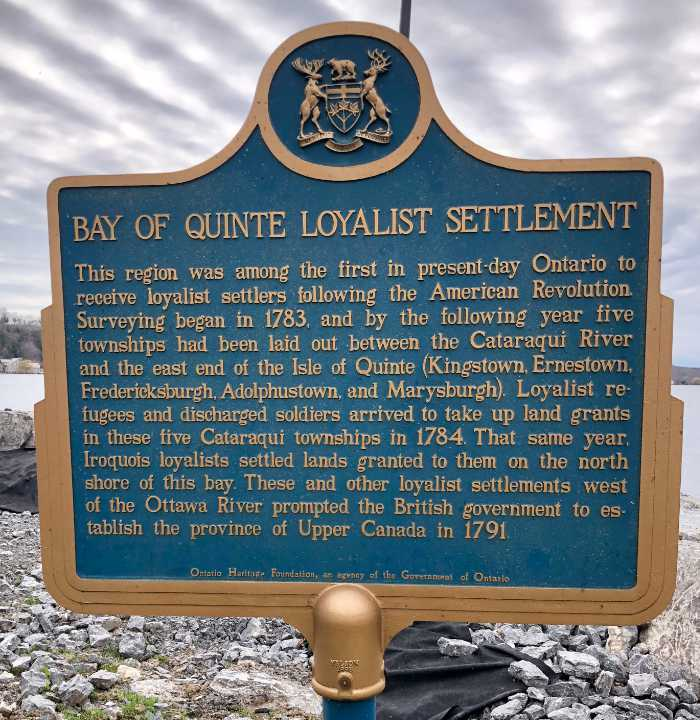 Bay of Quinte Loyalist Settlement