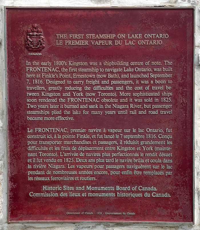 First Steamship on Lake Ontario