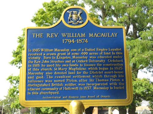 The Reverend William Macaulay 1794-1874