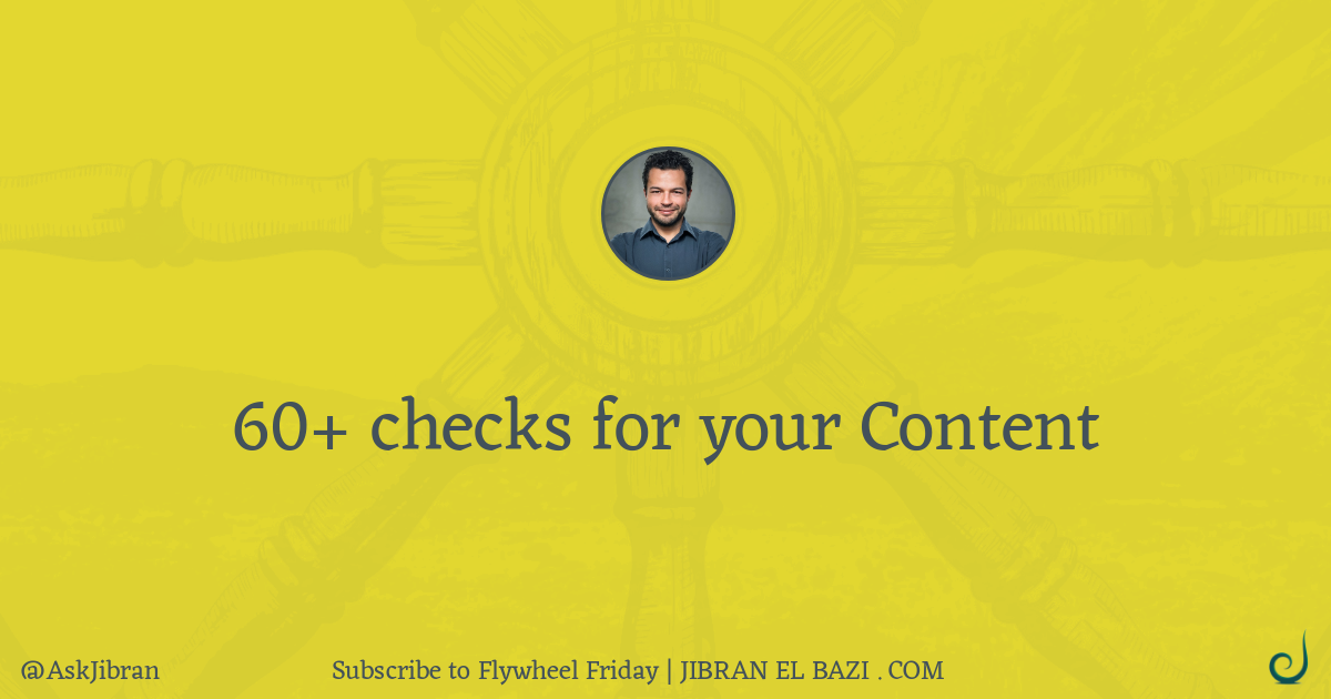 60+ checks for your content