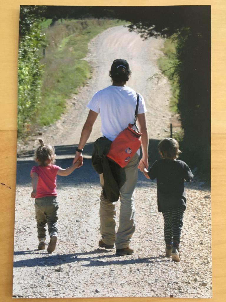 Jibran walking with kids
