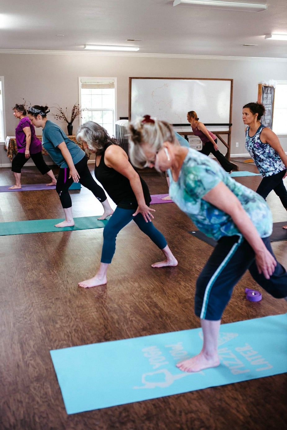 Group yoga class with Simchah