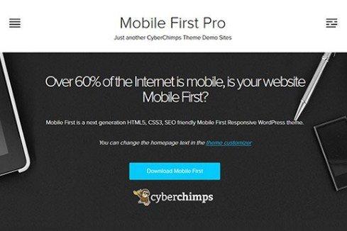 CyberChimps Mobile First Pro WordPress Theme
