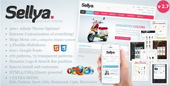Sellya Responsive WooCommerce Theme